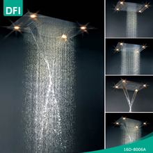 DFI modern wall mounted ceiling led shower head set with hand shower