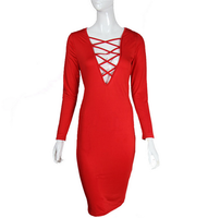 China dress manufacturer custom women sexy bandage dress 2016 long sleeve hollywood club wear