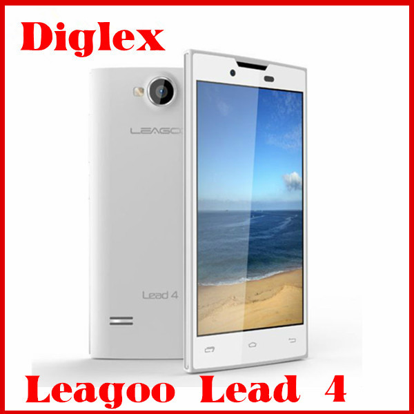 Cheap 3G Mobile Phone Leagoo Lead 4 Smartphone 4.0 inch Dual Core MTK6572 Android 4.2 Mobile Phone 3MP Camera Dual Sim Card
