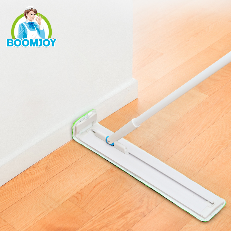 BOOMJOY Original Inventor 360 Swivel Slidable Flat Floor Cleaner Cheaper Industrial and Home Mop with 2 Microfiber Heads