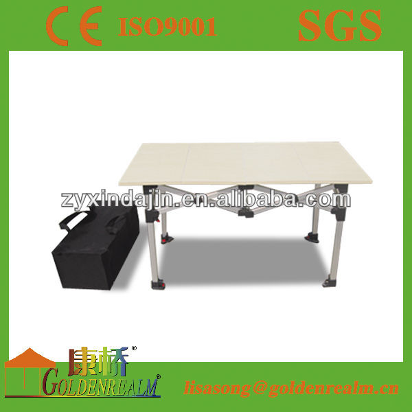steel frame wood table