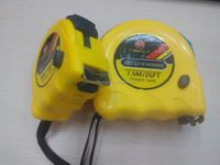 Yellow ABS case with 2 stop button belt steel measuring tape