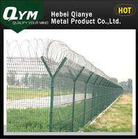 QYM-High strengthen and security defense airport fence with Y type post