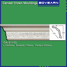 PU foam Carved decorative corner moulding /inside decor