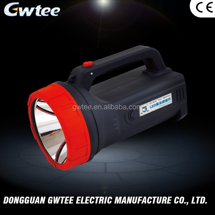 Alibaba export high power led rechargeable spotlight or searchlight with USB durable led spotlight