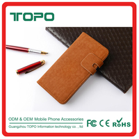 [TOPO] Wholesale Mobile Phone Case Leather Card Slot Stand Flip Cover Wallet Phone Case for iPhone 6