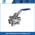 1/2 NPT Stainless Steel 316 3Piece Ball Valve Full Port with Locking Handle