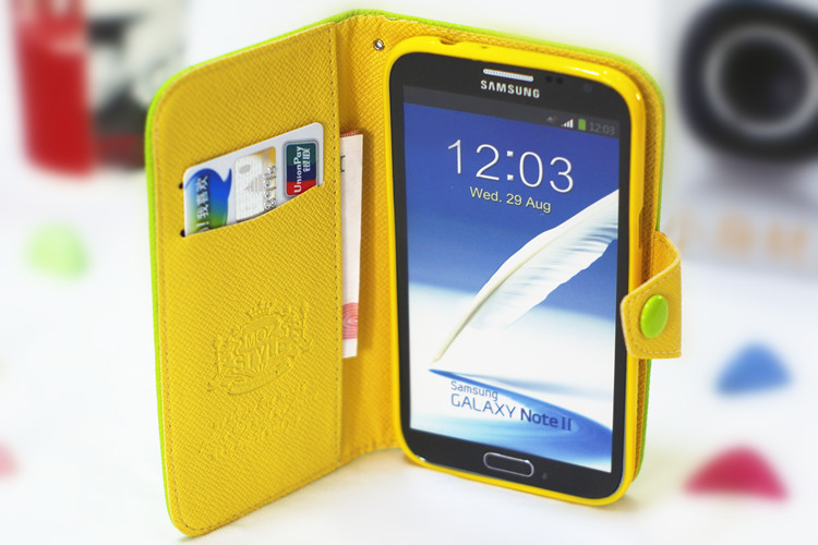 funky mobile phone case card holder wallet for samsung galaxy s4 mini