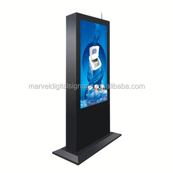 vandal proof free standing lcd advertising display/waterproof Full color outdoor lcd display way finding