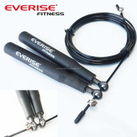 2015 New Crossfit Speed Jump Rope - 4 High Grade Bearing , 13.5cm Handle , Adjustable , Double Unders