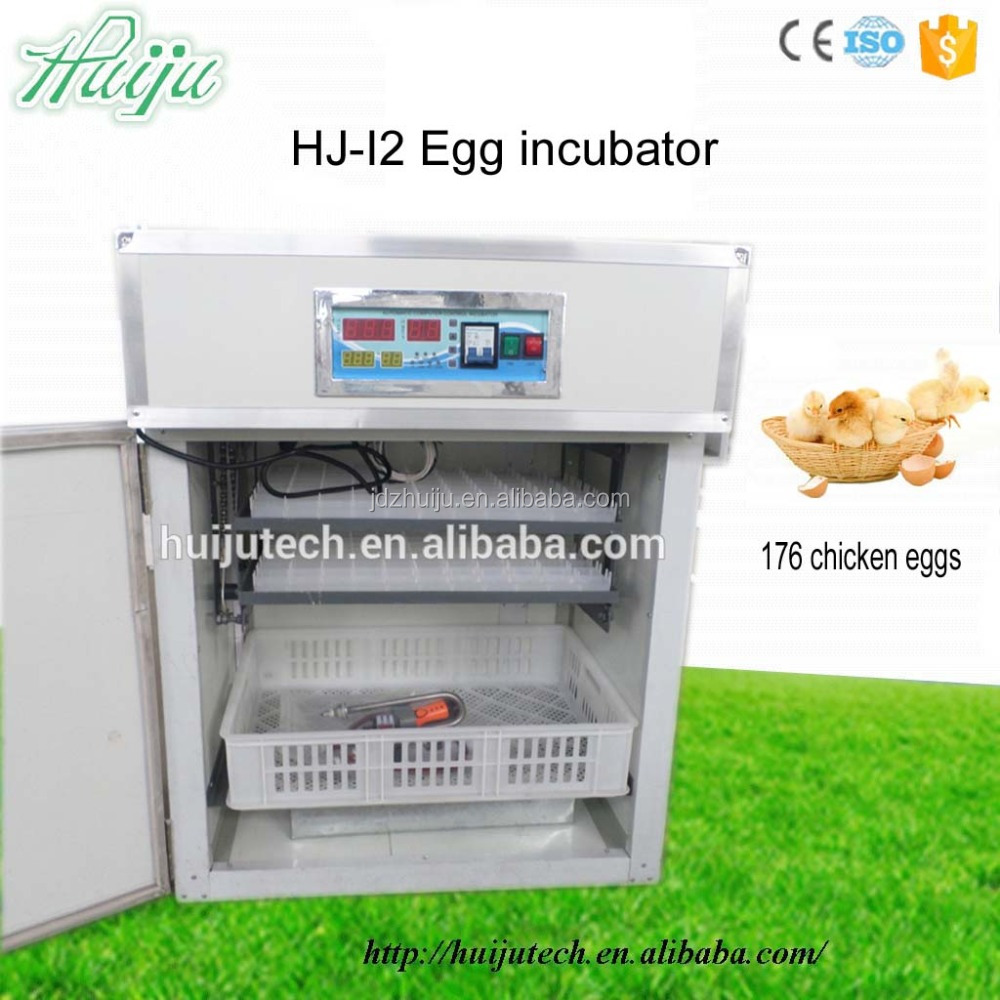 176 chicken eggs CE approved commercial industrial fan chicken egg incubator for sale HJ-I2
