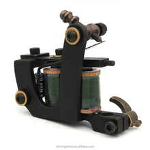 high quality tattoo machines best price 10 wraps green coil tattoo gun for shader