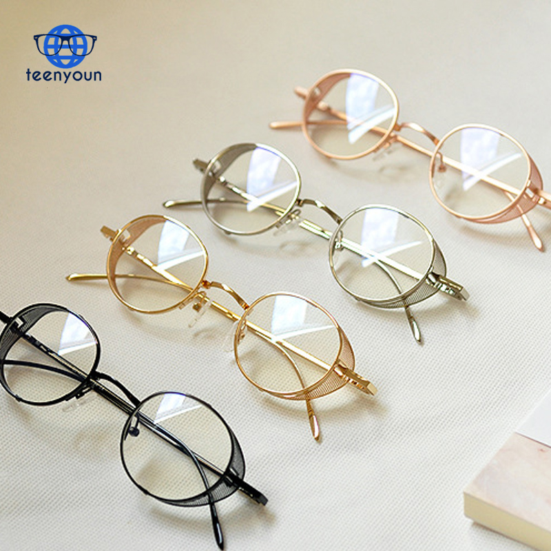 Vintage Metal lasses Frame Women Lens Glasses Fashion Men Blue Rays Reading EyeWear