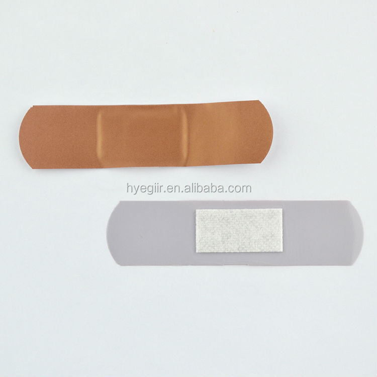 Custom dark/Light skin color elastic fabric adhesive bandage of 70*18mm CE and FDA approved