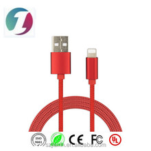 Factory provide high quality aluminium alloy quick charging cable for iPhone Nylon Knit usb cable