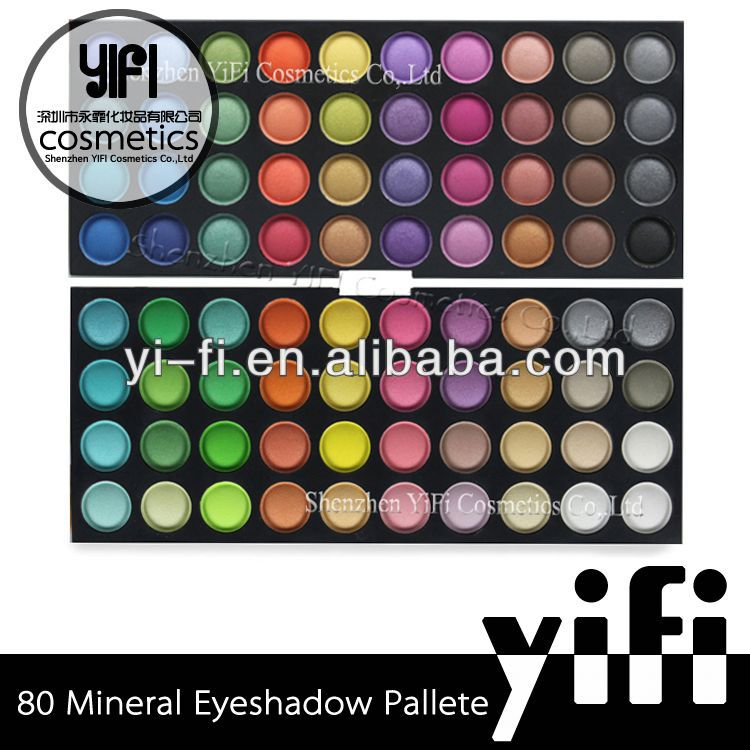 Cosmetic Wholesale! 80 Full Color Eyeshadow Palettes Double Stack Makeup red shadow