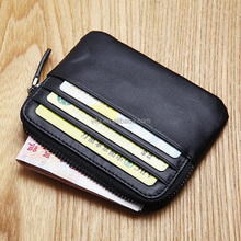 2017 Cute Mini Genuine Leather Zipper Small Coin Purse with Card Slot