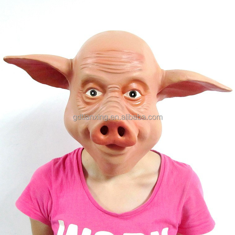 Funny pig overhead mask horror halloween mask wholesale
