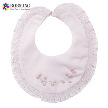Boutique Handmade Smocked And Embroidery Cotton Cute Baby Drool Cover lnfant Baby Bibs