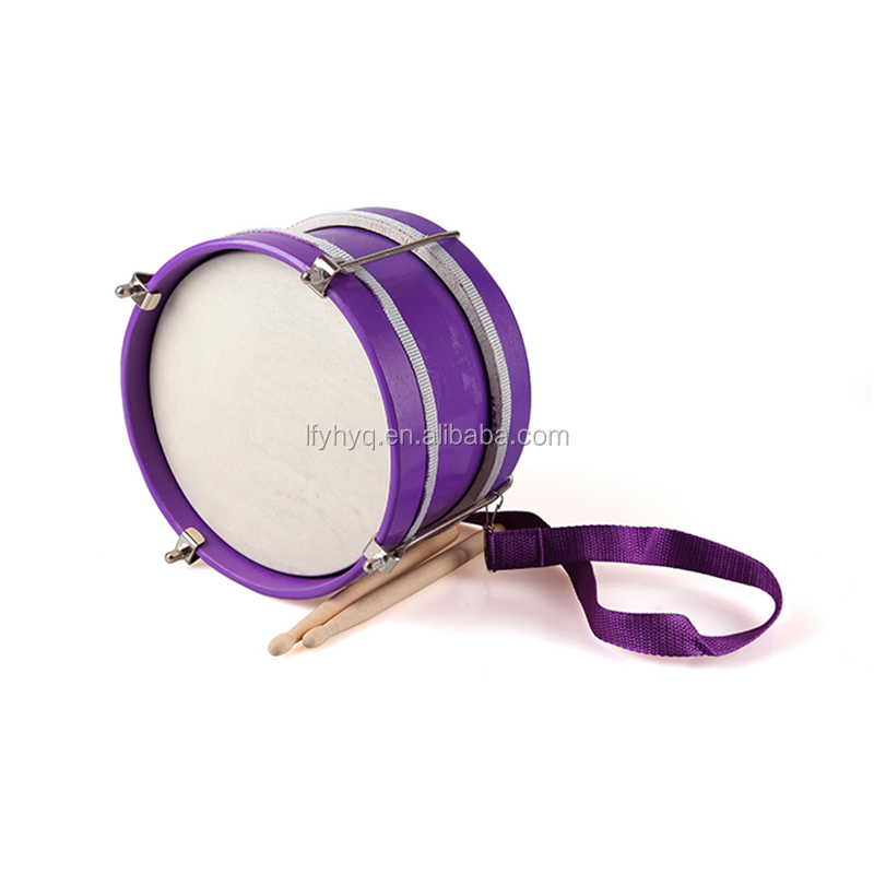 kids marching band drum with wooden drum sticks