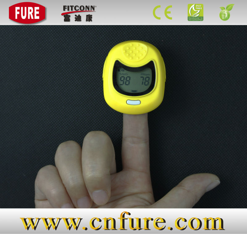 Yellow ce electrical pulse oximeter neonate and child finger pulse oximeter