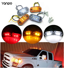 1X 2XLeds Auto LED Truck Side Light Car Trailer Caravan Side Marker Light Clearance Lamp 12V 24V Yellow Red White Color