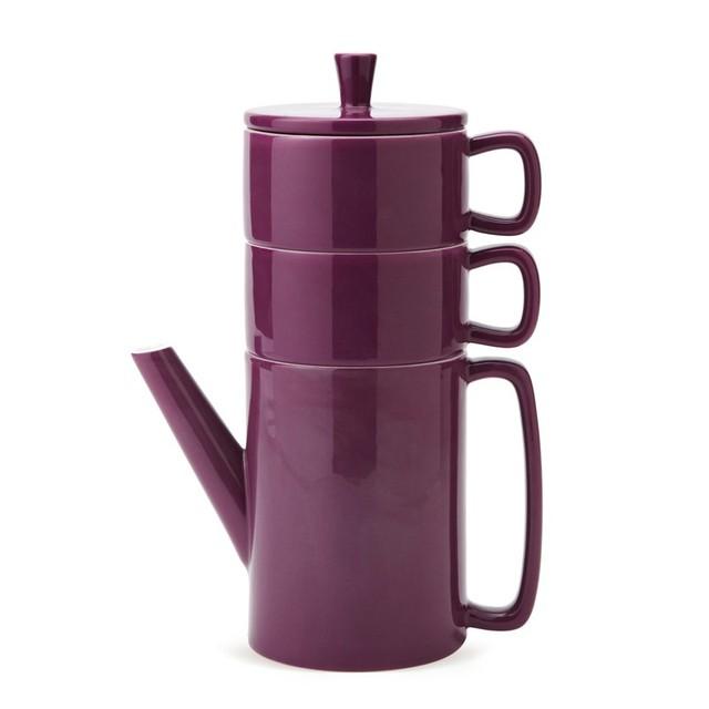 2017 minimalist purple tea set coffee tower in Nordic style