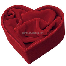 rose red heart shaped gift paper boxes with velvet