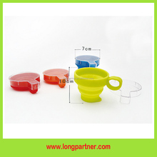 Free shipping BPA Free silicone wine <strong>cup</strong> with lid