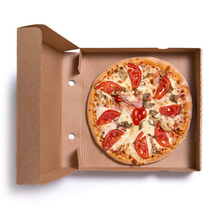 Customized disposable corrugated pizza boxes