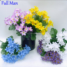 Artificial Decorative Mini Flower Bouquet H25cm White Forget Me Not Flower