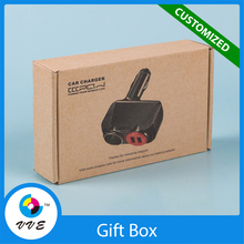 Eco-friendly Cheap kraft paper box custom logo corrugated paper box with insert tray
