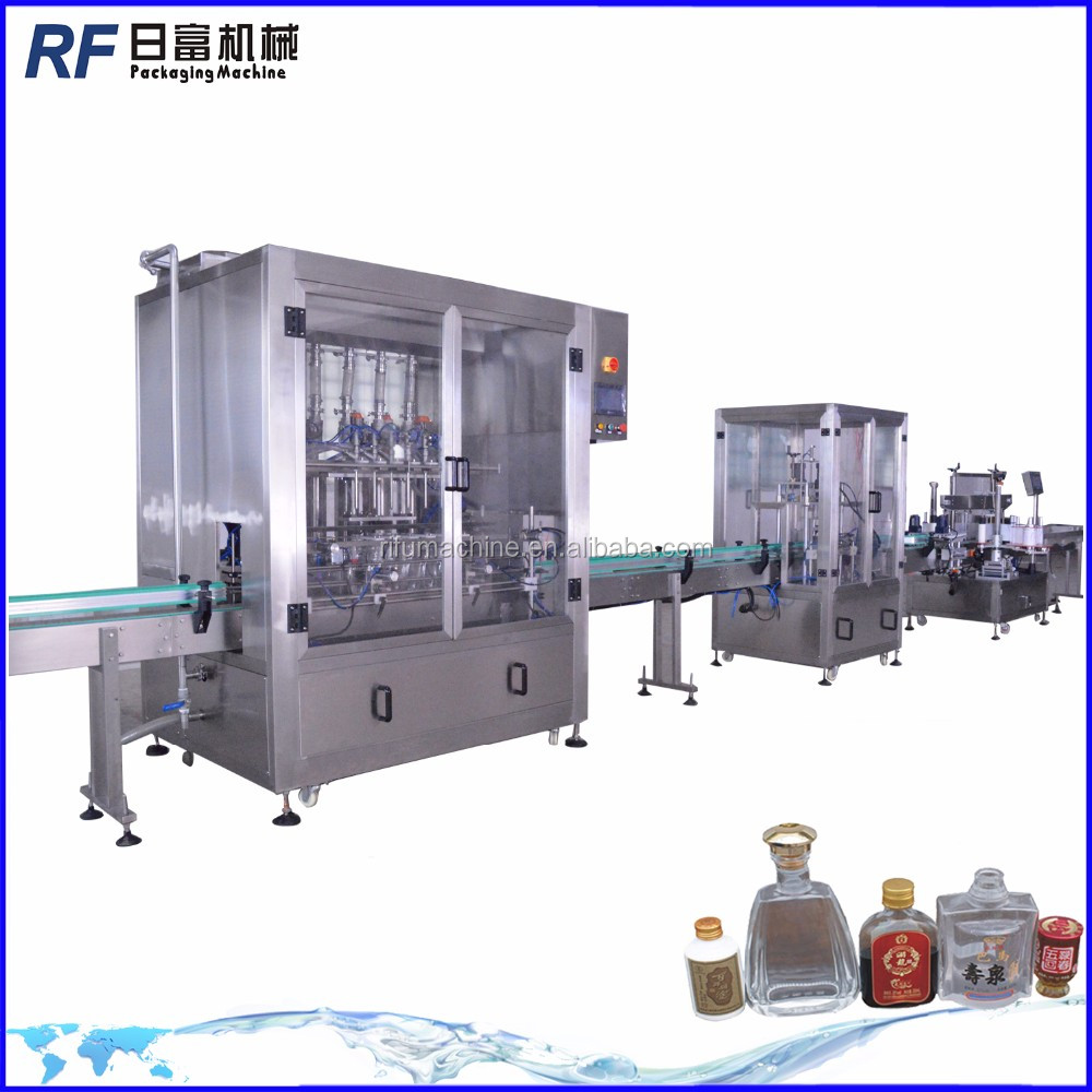 Automatic mineral water filling line