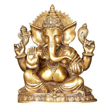 Gold resin ganesh hindu lord ganesha idol