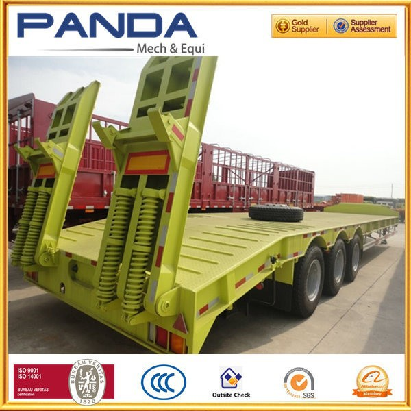 Panda 3 axle 50T double drop truck and trailer double drop deck truck and trailer solid low boy truck and trailer for sale