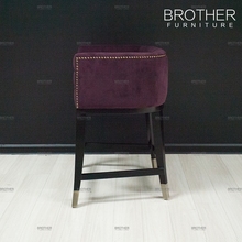 Modern design bar furniture fabric high stool chair wood bar