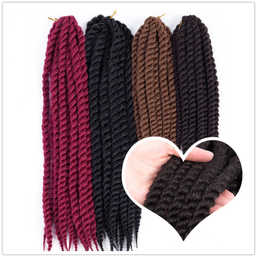 Synthetic Hair Bulk Hair Extension Type and Synthetic Hair Material Havana mambo twist crochet braid