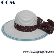 BSCI Audited Factory Wide Brim Summer Beach Floppy Straw Hat