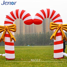 Christmas decoration 2017 double inflatable candy cane archway