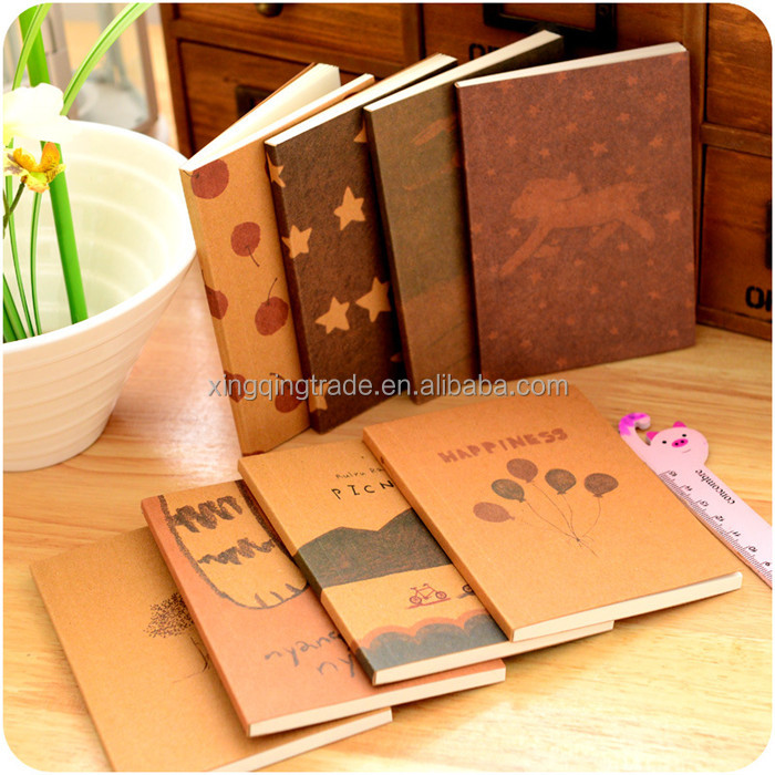 Vintage Hand Painted DIY Notebook Travel Diary Portable Notepad Office Stationery Supplies