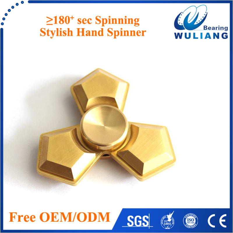 2017 hot selling fidget spinner toy /finger spinner toys in Brasswith 688 ceramic bearing