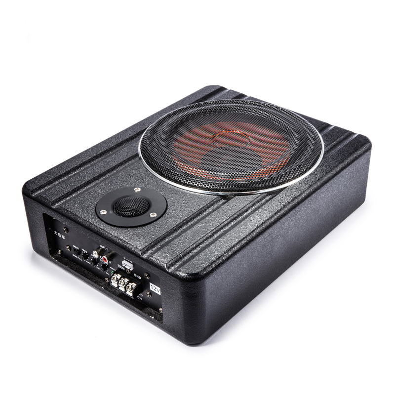 Slim Car Amplified Subwoofer With New 8 Inch Subwoofer Box Design And Package