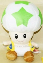 "GREEN STAR TOAD 6"" (15CM) SUPER MARIO BROS PLUSH TOY DOLL"