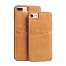 Eco-friendly leather cover case with Card Slots for iPhone 7/7 plus back cover case
