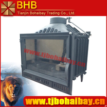Black or gray paint insert install cast iron material wood burning fireplace