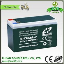 36v 7ah hidden battery electric bicycle 6-DZM-7 mf lead acid battery