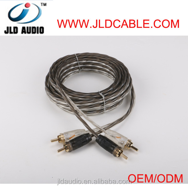 RCA cable for audio adapter male to male with gold connector car audio video RCA cable