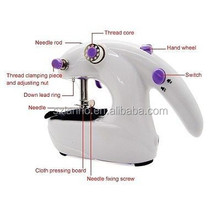 Mini Electric Home Travel Sewing Machine Handheld & Desktop Stitch Tool