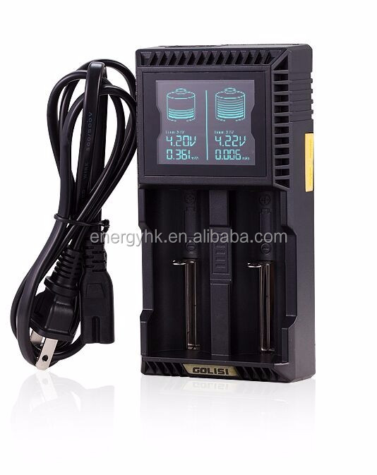 Good quality EU/AU/UK/US battery charger smart charger golisi L2 for 18650/26650/aa/aaa battery