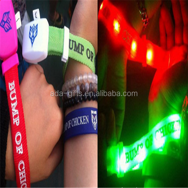 promotion led remote bracelet 1000m flashing smart led bracelet